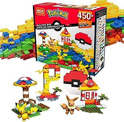 Mega Construx Pokemon Caja de Bloques de Construcción con 450 Piezas (Mattel GMD35) de Mattel