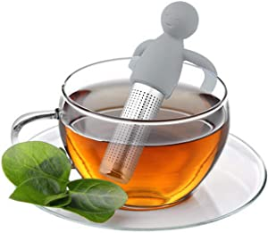 Food Grade Silicone And Stainless Steel Fine-pore Tea Strainer/reusable Hanging Tea Strainer For Home Office Teapots And Cups