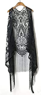 Sexy Lace Cardigan Women Vest Casual Hollow Out Perspective Plus Size Irregular Long Beach Elegant Tops Waistcoat