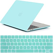 Se7enline MacBook Pro 13 Case 2016 2017 2018 2019 Plastic Hard Case Cover for MacBook Pro 13-inch with/Without Touch Bar Touch ID A1706/A1708/A1989/A2159 with Keyboard Cover Set, Turquoise Blue