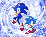 Son-Ic The He-Dge-Hog DIY 5d Diamond Painting by Number Kits, Crystal Rhinestone Embroidery Paint with Diamonds, Indoor Wall Decoration Gifts Arts and Crafts for Kids & Adults Beginner 8x12in