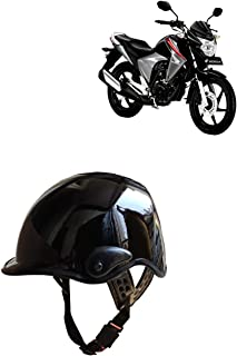 Autokraftz Half Face Motorbike Men'S Helmet For Royal Enfield Thunderbird 500 (Black)