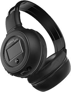 HiFi Stereo Bluetooth Headphone Wireless Headset Microphone Support FM Radio Earphone Micro-SD Card for ZEALOT B570 Black