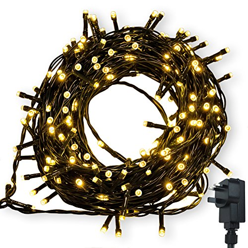 Fairy Lights WISD Low Voltage Xmas Lights Indoor Outdoor Use String Lights Mains with 8 Modes & Memory LED Christmas Lights 32.8M 300 LED Warm White for Xmas Tree Garden Wedding Party Decorations