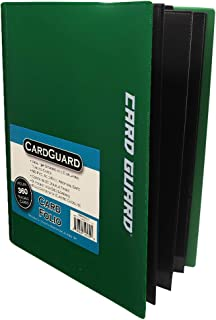 CardGuard Trading Card Pro-Folio, 9-Pocket Side-Loading Pages, Holds 360 Cards, Dark Green