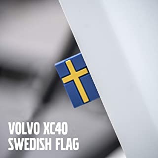 Sweden Swedish Flag Tag Emblem Decal Sticker for Volvo XC40