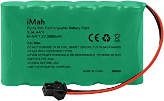 iMah 7.2V AA Battery Pack 2000mAh High Capacity Ni-MH Rechargeable with SM-2P Plug for YIKESHU 1/16 RC Truck and Fisca Top Race TR-211 1/14 1/18 1/20 High Speed Radio Remote Control Car