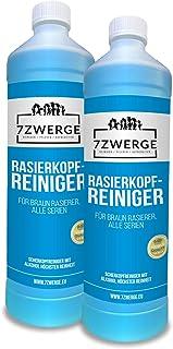 7Zwerge Scherkopreiniger navulvloeistof 2 x 1000 ml I reinigingsvloeistof voor Braun en Panasonic reinigingscartridge I Re...