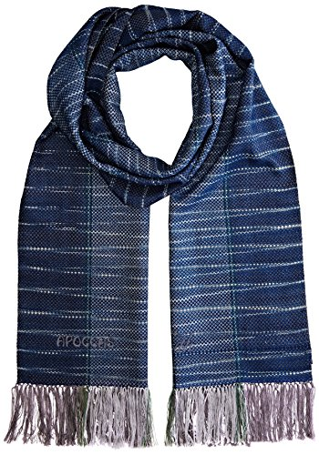 APOCCAS Pore Echarpe Homme, Bleu (Indigo), taille unique