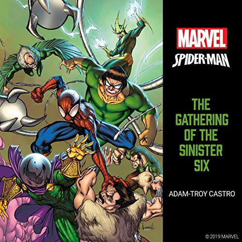 Spider-Man: The Gathering of the Sinister Six audiobook cover art