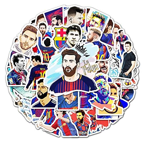 Barcelona Superstar Messi Graffiti Pegatina Equipaje Portátil Scooter Coche Impermeable Pegatina 51PCS