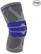 Knee Compression Sleeve Support for Sports - Silica Gel Anti-Collision Knee Pads 3D Knitting Technology High Elastic Soft M