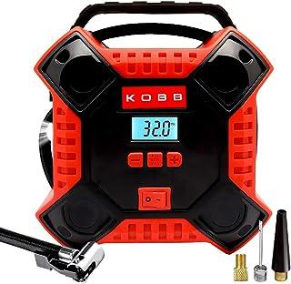 KOBB KB200 12Volt 160 PSI Dijital Basınç Göstergeli Hava Pompası, Kırmızı/Siyah