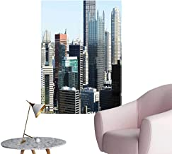 Wall Stickers for Living Room Pittsburgh PA Skyline Pennsylvania Modern Grey Silver Light Blue Vinyl Wall Stickers Print,24