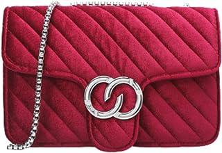 Rare Fig Damen Umhängetasche Kettenriemen Umhängetasche Für Reisen Arbeit Dating oder Täglicher Gebrauch (Rot)