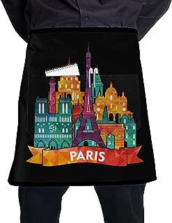 Nicokee Chef Aprons Paris Waist Tie Half Bistro Apron Home Kitchen Cooking