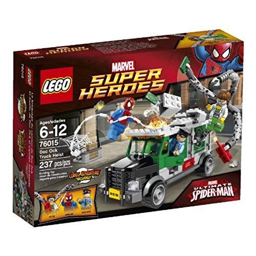 LEGO Super Heroes- Marvel - 76015 - Jeu De Construction - Le Braquage du Camion par Le Docteur Octopus