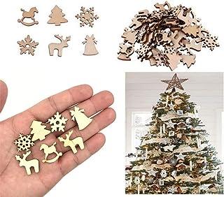 10pcs en Bois Bois Antler Shape Craft Mariage Maison Fête de Noël décors
