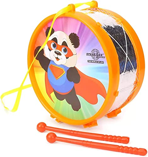 SSKR Musical Instruments Drum For Kids Assorted Colors Designs Pack Of 1