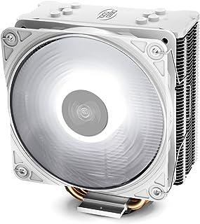 DEEP COOL GAMMAXX GTE V2 Blanco, Disipador de CPU, con 4 Tubos de Calor, un 120 mm CPU Ventilador PWM de LED Blanco, Compatible con Intel/AMD