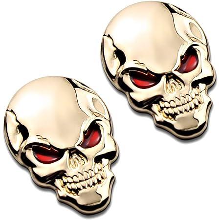 3d Metall Skull Totenkopf Sticker Emblem Badge Elektronik