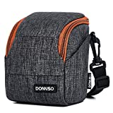 DOMISO Water-Restraint Camera Case Anti-shockShoulder Bag with Detachable Strap for Sony a5100 a6000 a6300 a7/Nikon COOLPIX B500 B700/OLYMPUS E-PL8 E-PL9,Grey