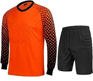 CATERTO Men's Football Goalkeeper Foam Padded Jersey Shirt & Pants/Shorts