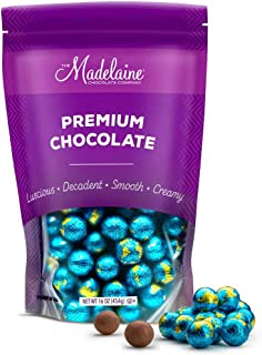 Madelaine Solid Premium Milk Chocolate World Globe Balls (1 LB)