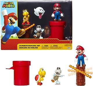 Jakks Pacific Dungeon Diorama Set, 6 cm Super Mario - Set de Figuras Mundo Dungeon Kleurrijk