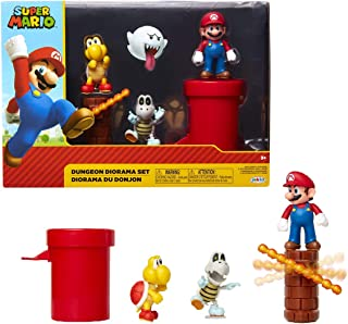 "Nintendo Super Mario Dungeon 2.5"" Figure Multipack Diorama Set with Accessories"