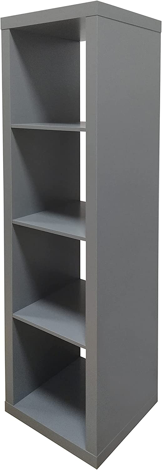 Better Homes and Gardens.. Bookshelf Square Storages Cabinet 4-Cube Organizer (Weathered) (White, 4-Cube) (Gray, 4-Cube Horizontal/Vertical)