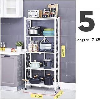 Étagère de cuisine à poser au sol multi-couches pour appareils électriques, étagère de rangement de cuisine et organisatio...