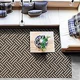 Outdoor Teppich Clyde für Terrasse und Balkon | wetterfester Sommerteppich für Ihren Garten | robustes Flachgewebe für außen und innen | modernes Design | Modell Hampton mit Korb Muster 200x290 cm - 5