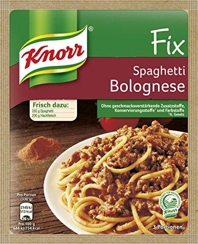 Knorr Fix Würzbasis für Pasta Spaghetti Bolognese, 42 g 3 Portionen