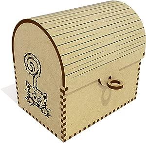 Azeeda  Hiding Cat  Treasure Chest Jewellery Box  TC00041119