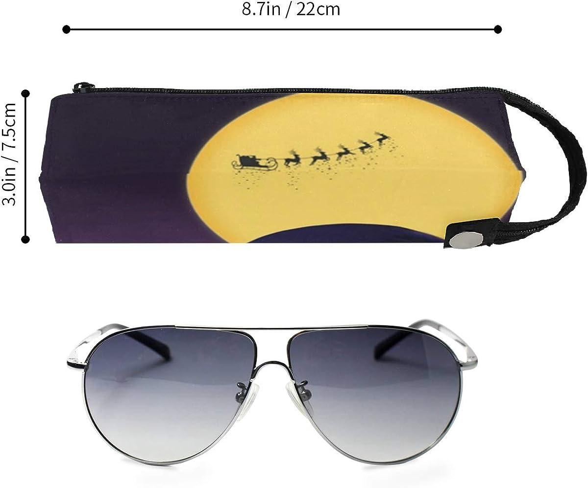 Nightmare Halloween Before Christmas Sunglasses Soft Case Zipper Eyeglass Case Storage Stationery Box