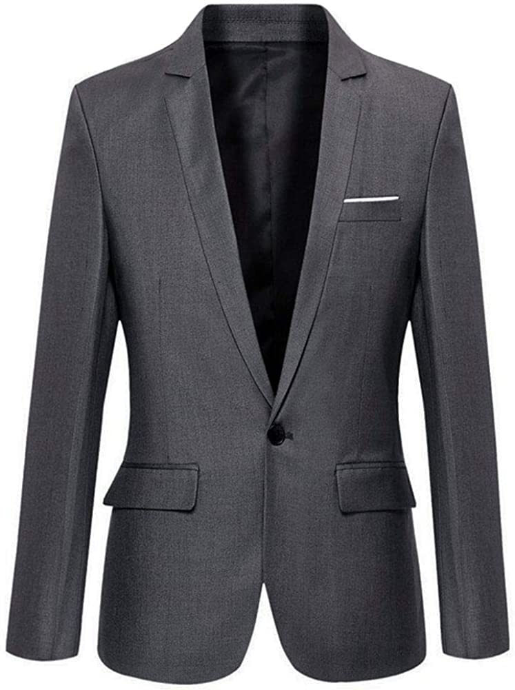 Mens Slim NEW before selling ☆ Fit Casual One Blazer Jacket Max 73% OFF Button