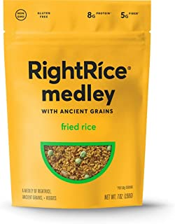 RightRice Medley - Fried Rice (7oz. Pack of 1) - Made from Vegetables – Ancient Grains and More Veggies, Vegan, non GMO, G...