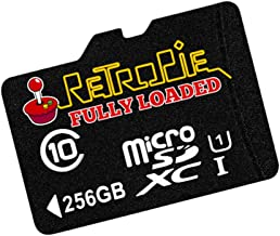 Ultimate Retropie Raspberry Pi Micro SD Card - 256GB - Fully Loaded Thousands of Games - B and B+