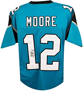 D.J. Moore Autographed Carolina Panthers Custom Football Jersey - JSA COA