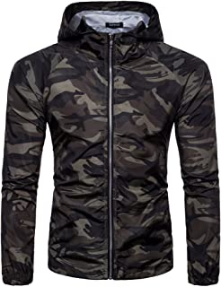 Mens Plain Zip Up Hoody Hooded Camouflage Top Hoodie Zipper Jacket Hoodies Sweatshirts