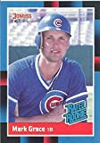 """MARK GRACE """"RATED ROOKIE"""" COLLECTIBLE TRADING CARD - 1988 DONRUSS BASEBALL CARD #40 (CHICAGO CUBS) FREE SHIPPING"""