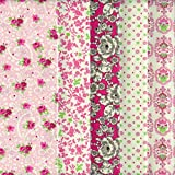 Textiles français Stoffpaket 5 Stoffe - rosa, pink,