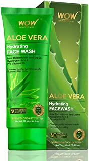 WOW Skin Science Aloe Vera With Hyaluronic Acid and Pro Vitamin B5 Hydrating Gentle Face Wash - 100 mL