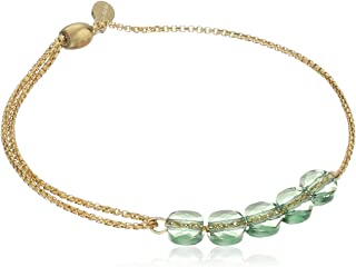 Alex and Ani Crystal Infusion Pull Sterling Silver Chain Bracelet
