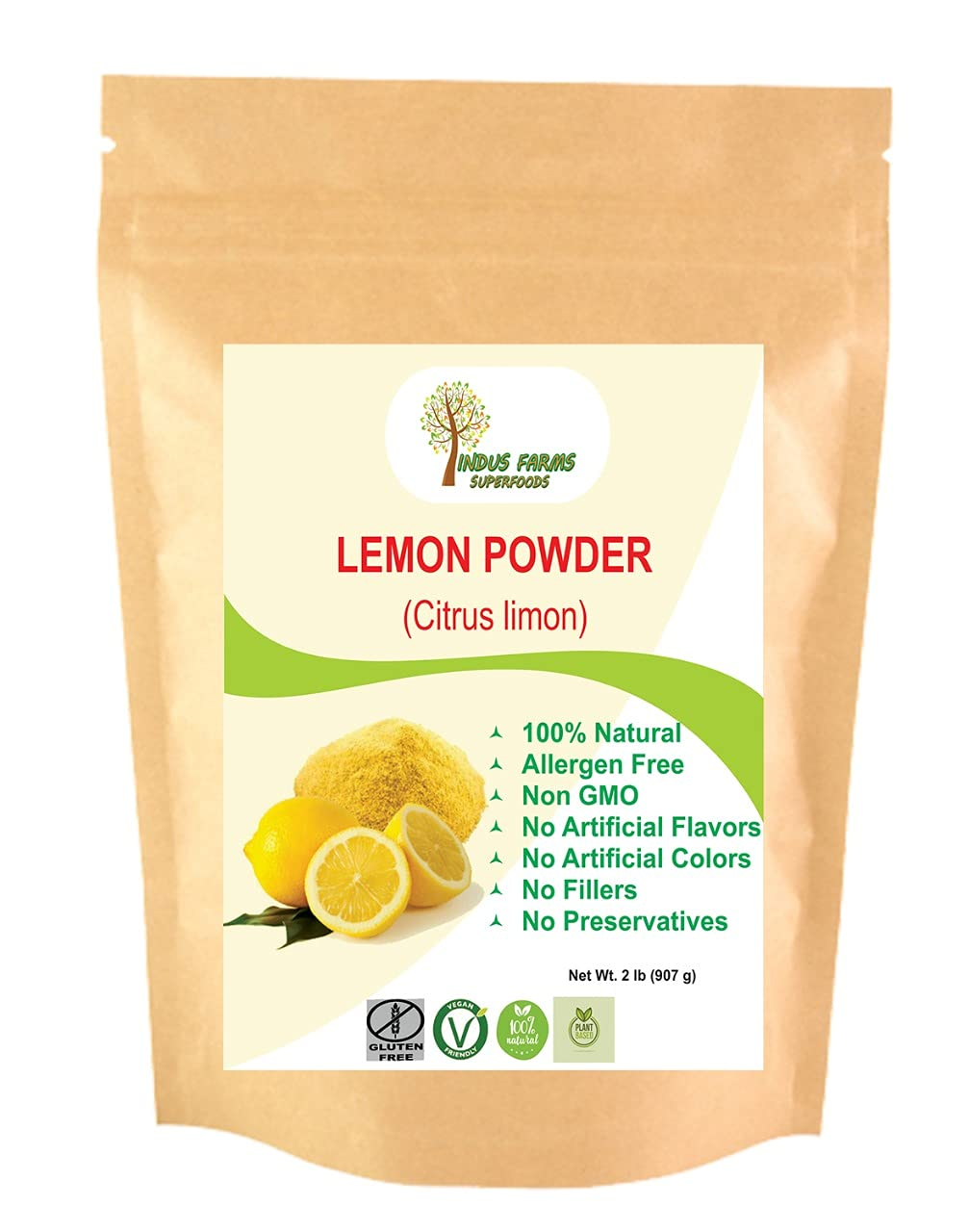 Portland Mall 100% Natural Lemon Fruit Powder 2 2021 autumn and winter new Eco-friendly Resealable p LB