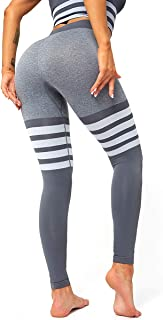 HURMES Women's High Waist Seamless Leggings Slimming Tummy Control Yoga Pants Stretchy Compression Workout Tights