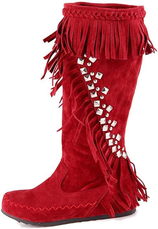 Excellent.c Popular Women's Boots Tassel high Boots Snow Boots Flat Boots