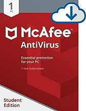 McAfee AntiVirus 1 PC Student Edition [Online Code]