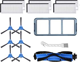 LesinaVac Replacement Parts Accessories for Eufy 11s RoboVac 11S & RoboVac 30 & RoboVac 30C & RoboVac 15C Accessories(6 Filters+6 Side Brushes+1 Main Brush+1 Primary Filter).